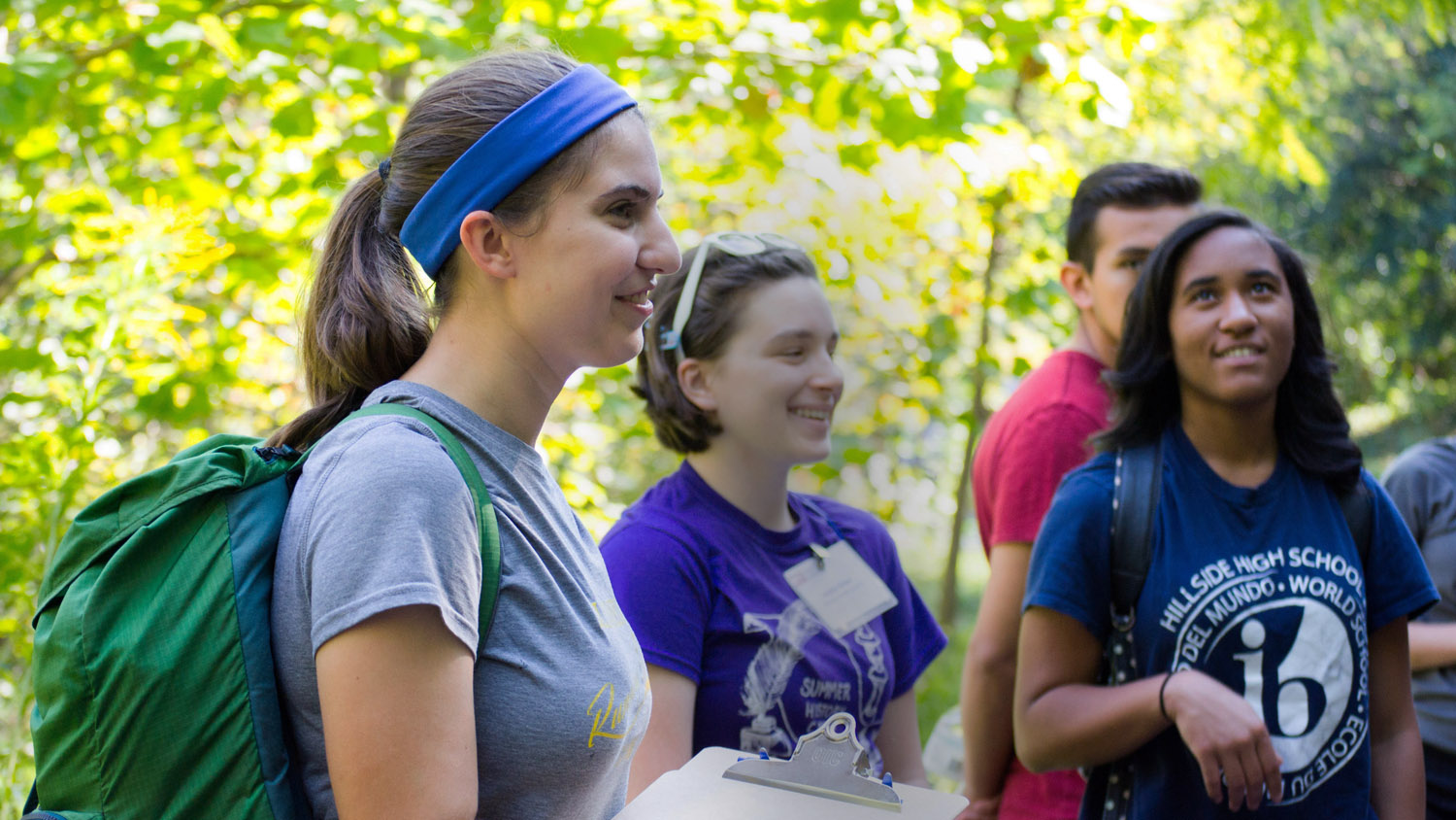 A group of students outside in a forest - Giving - College of Natural Resources NCState University