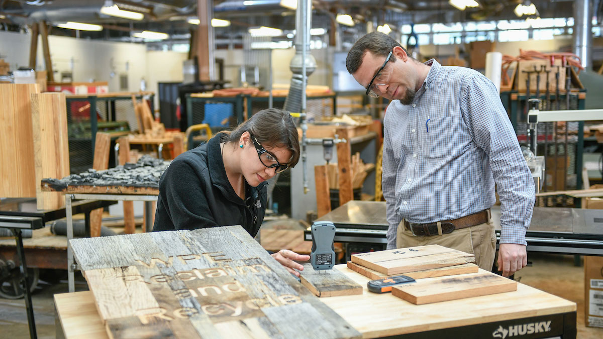 A woodworking lab - Giving - College of Natural Resources NCState University
