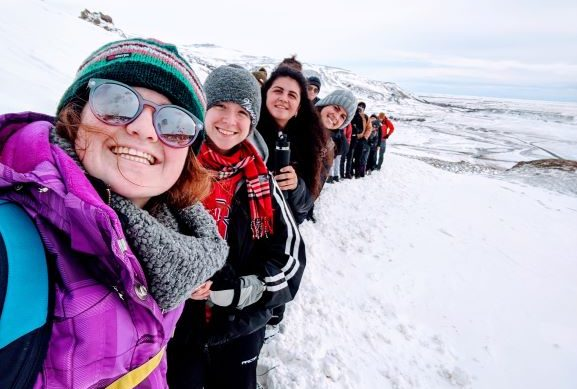 Lily Humphries in Iceland - Forest Biomaterials at NC State University