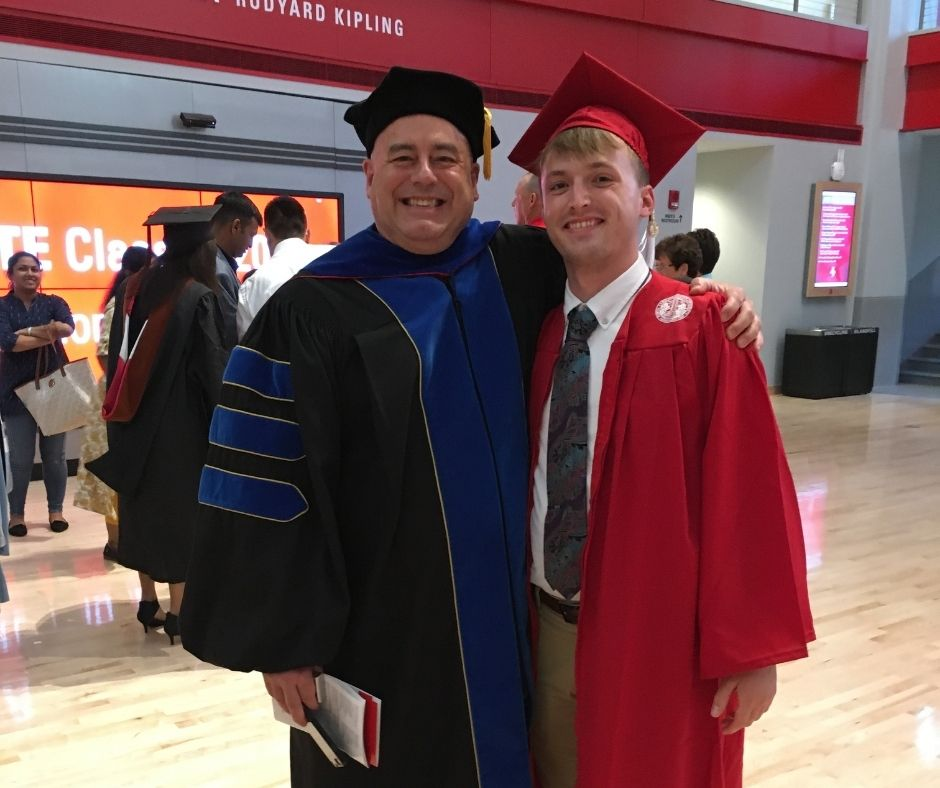 Bruce Butler in Cap and Gown - Alumni Spotlight: Bruce Butler - Class of '18 - Forest Biomaterials NC State University