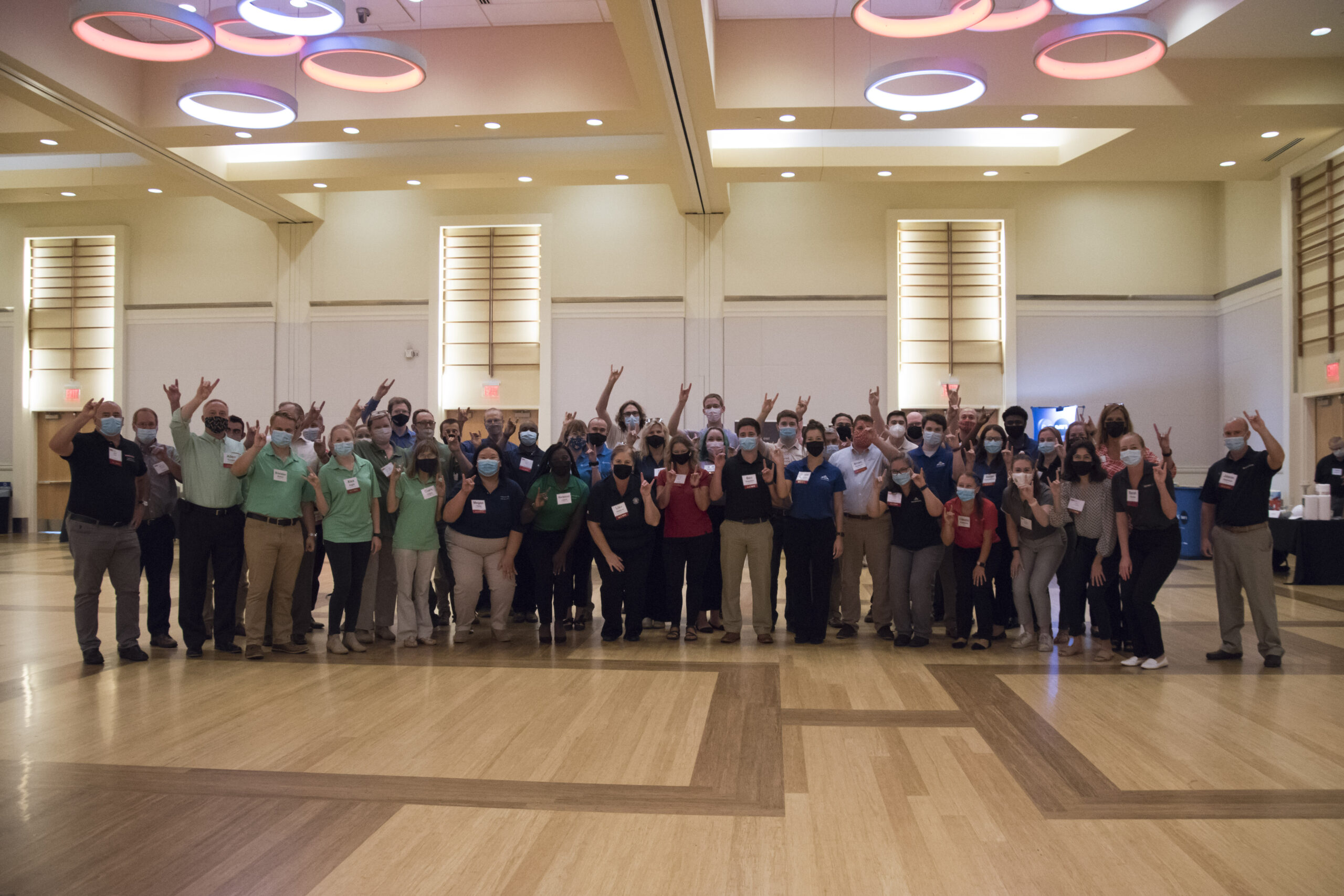 Group Photo at Career Fair - Fall 2021 Paper Industry Career Fair - Forest Biomaterials NC State University