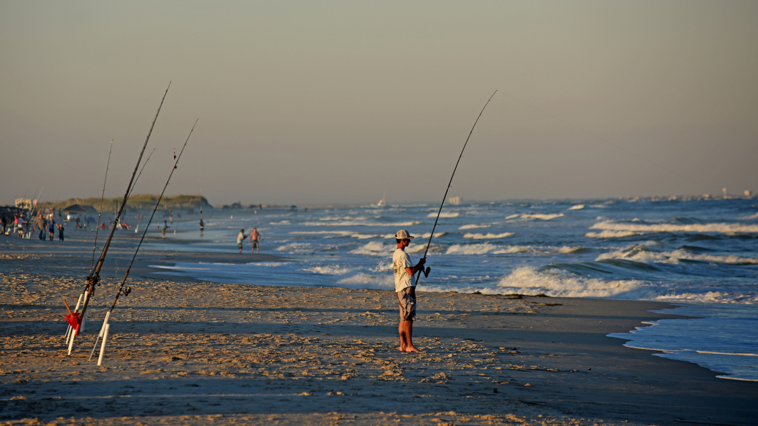 Fisherman on the Beach - Ensuring Cleaner Air and Water - Forestry and Environmental Resources NC State University