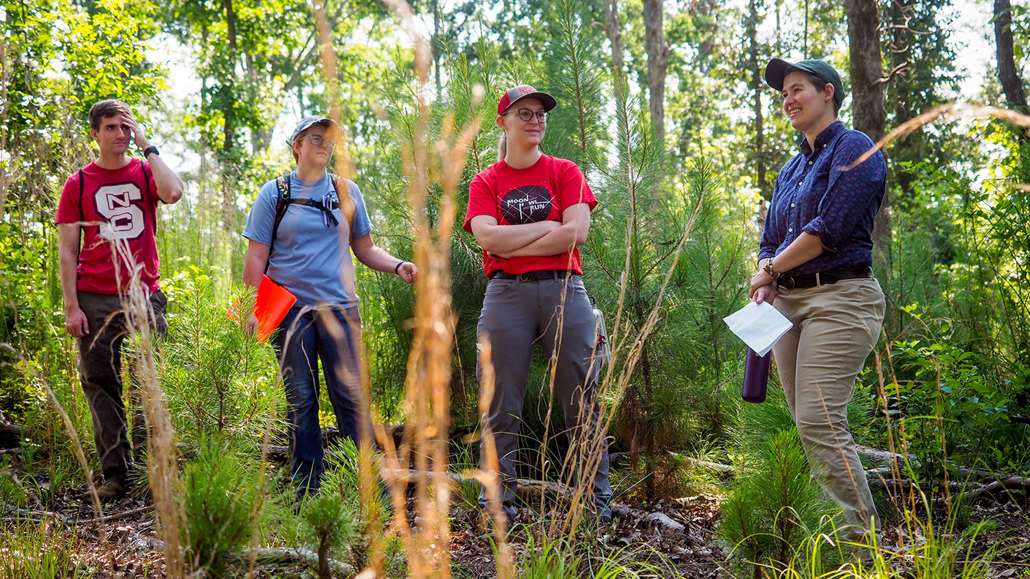 Students in Schenck Forest in class - Department of Forestry and Environmental Resources at NCState