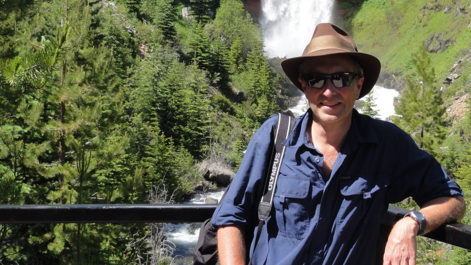 Professor George Hess is Helping Conserve Green Space in Urban Areas, College of Natural Resources, George Hess at Tumalo Falls, feature