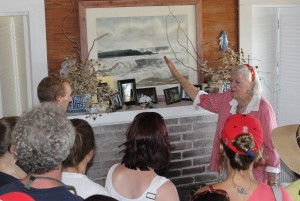 Ms. Rascoe hosts participants at her historic beach home