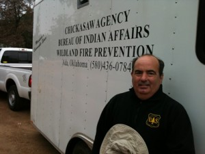 Joseph with the BIA Fire Prevention Trailer