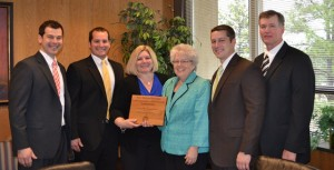 The Slocum Family with Dean Mary Watzin at Slocum endowment signing ceremony