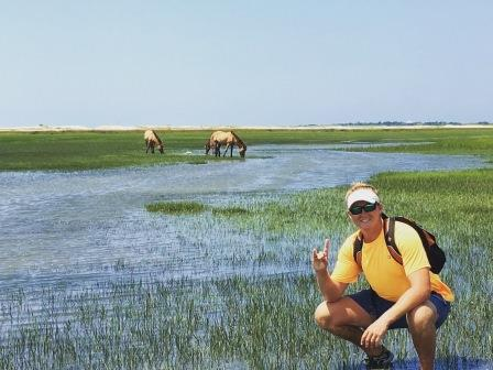 Monitoring feral horse movement near a watering hole at the Rachel Carson Reserve