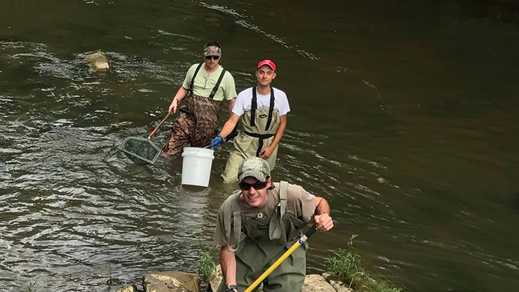 River Research - Fisheries, Wildlife, and Conservation Biology Graduate Programs - Forestry and Environmental Resources Spotlight: William Casola - Forestry and Environmental Resources NC State University