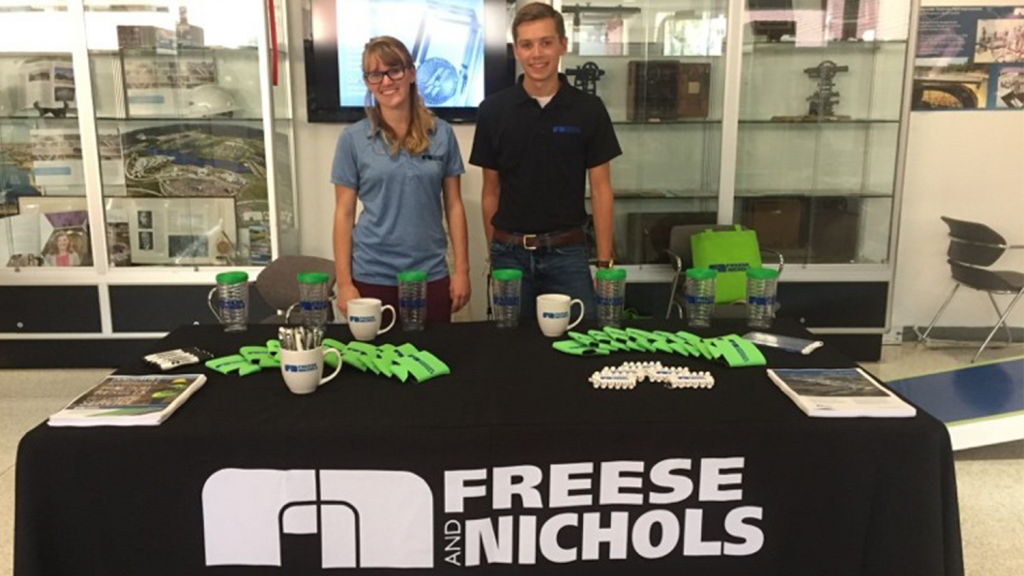 Alex Darr interns at Freese and Nichols
