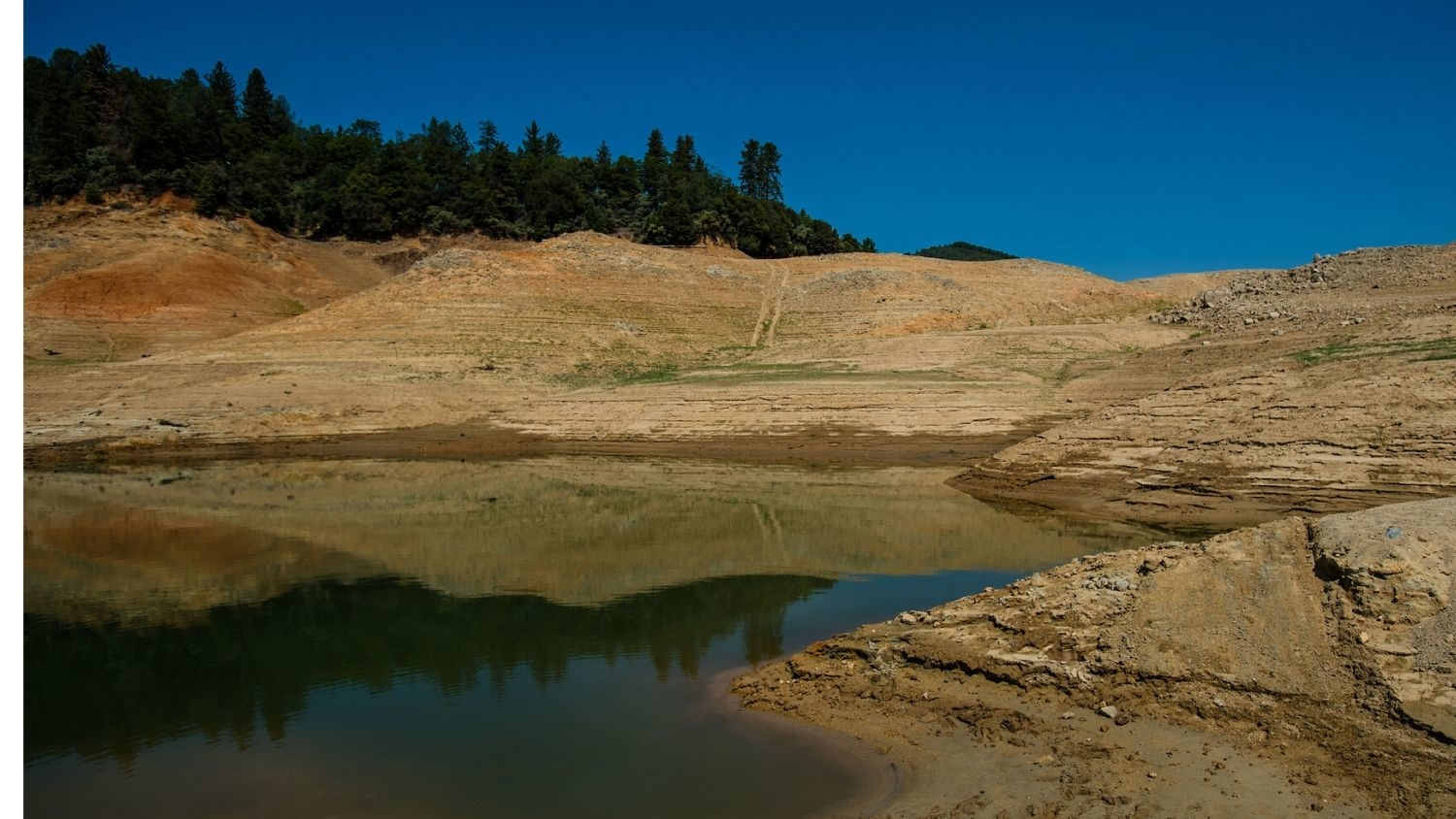 Shasta Lake during a drought in California.