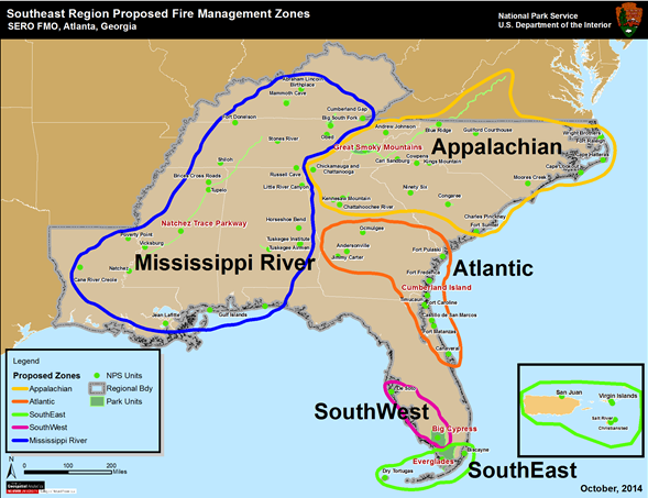 National Park Service Fire Management Office Adopts New Wildland - River maps of southeast us