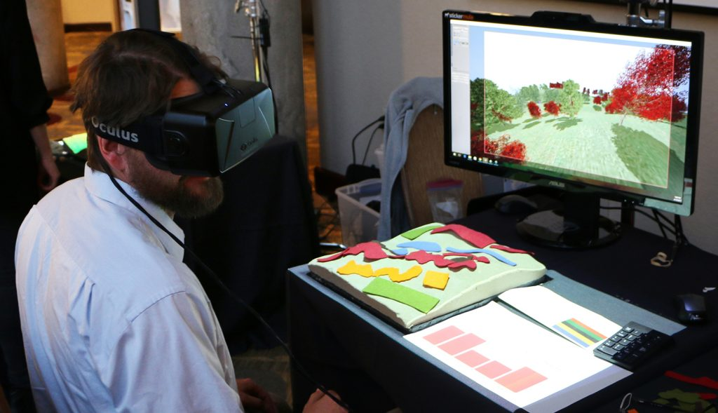 landscape design with felt and VR