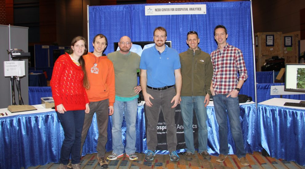 A photo of six NC GIS conference attendees taken in 2015