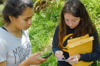 A picture of citizen scientists collecting data to track Sudden Oak Death