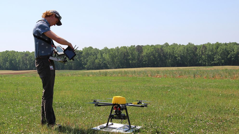 UAS operator in the field