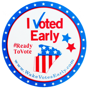 Early voting sticker Wake County