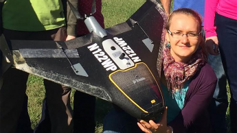 Justyna with drone