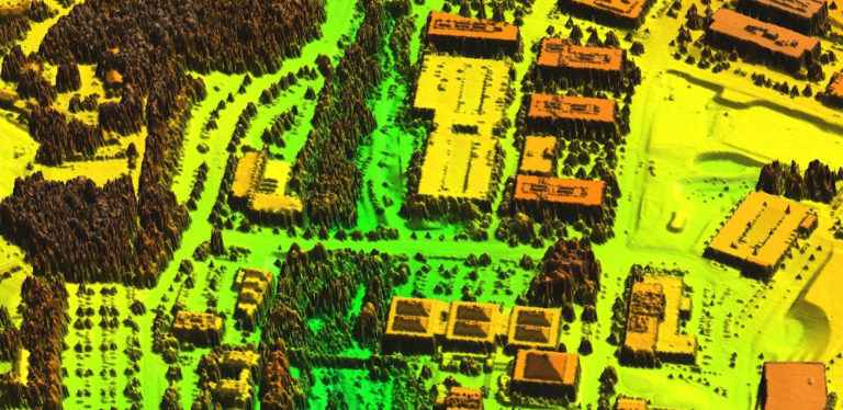 lidar data for a portion of Centennial Campus