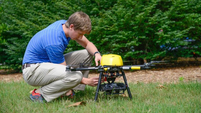 preparing a drone