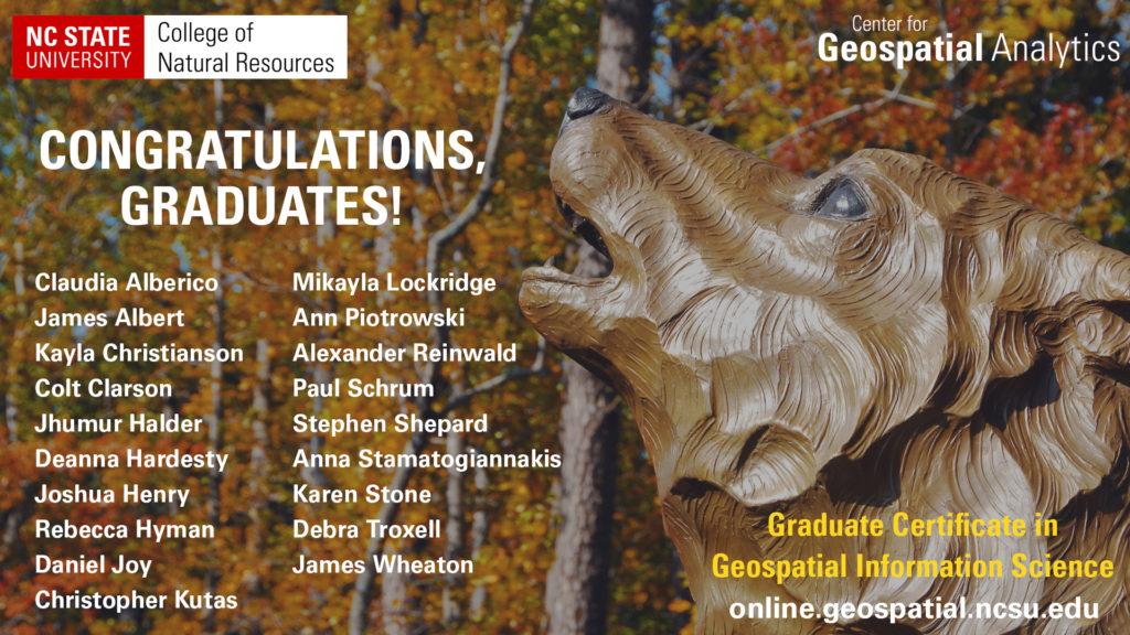 Graduate Certificate in GIS recipients December 2018