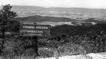 historic photo from Shenandoah National Park of a scenic overlook