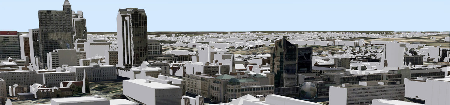 3D model of buildings in Raleigh