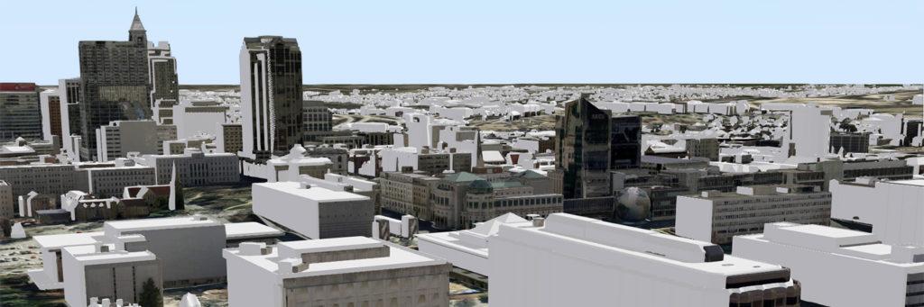 3D model of buildings in Raleigh