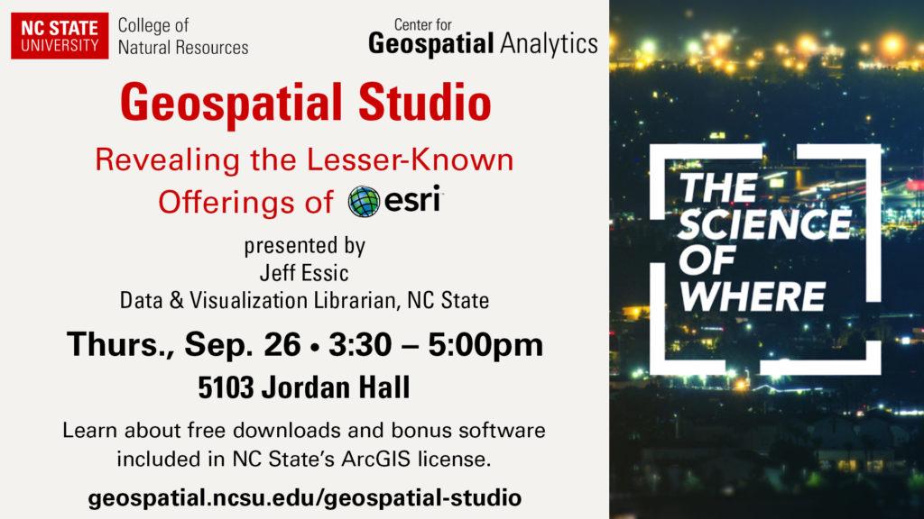 advertisement for Geospatial Studio