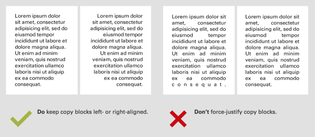 brand guidelines for typography