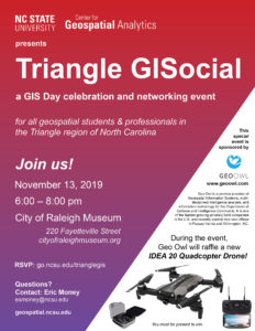 Triangle GISocial flyer