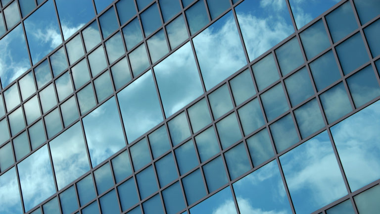 glass windows of Jordan Hall