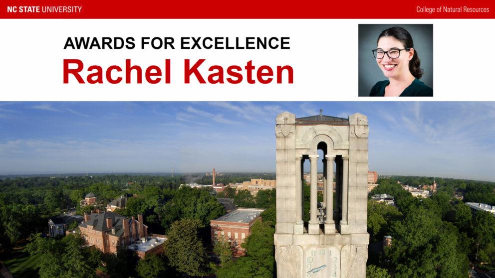 award announcement for Rachel Kasten
