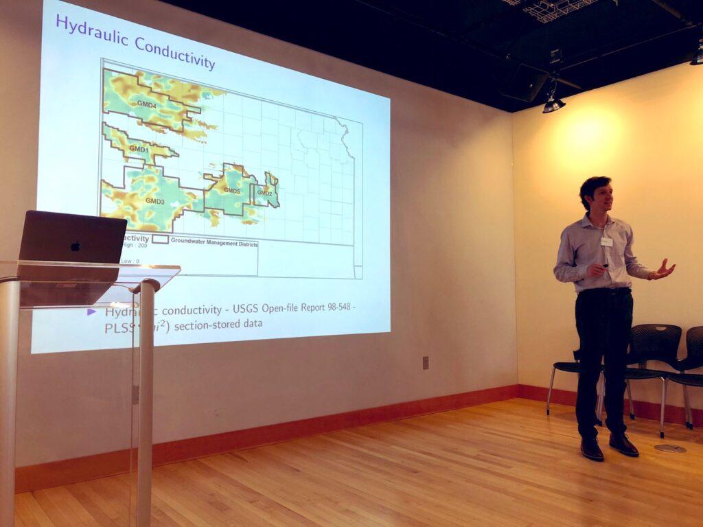 Eric Edwards explains his research