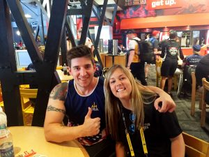 Paige King and Tim Payne, NC athlete