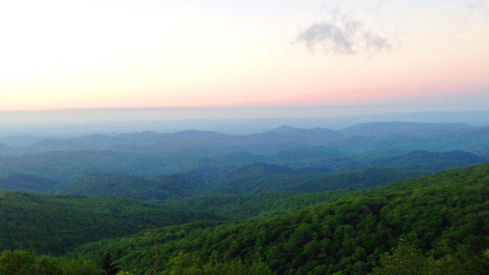 Sunrise at Elk Knob State Park in North Carolina.