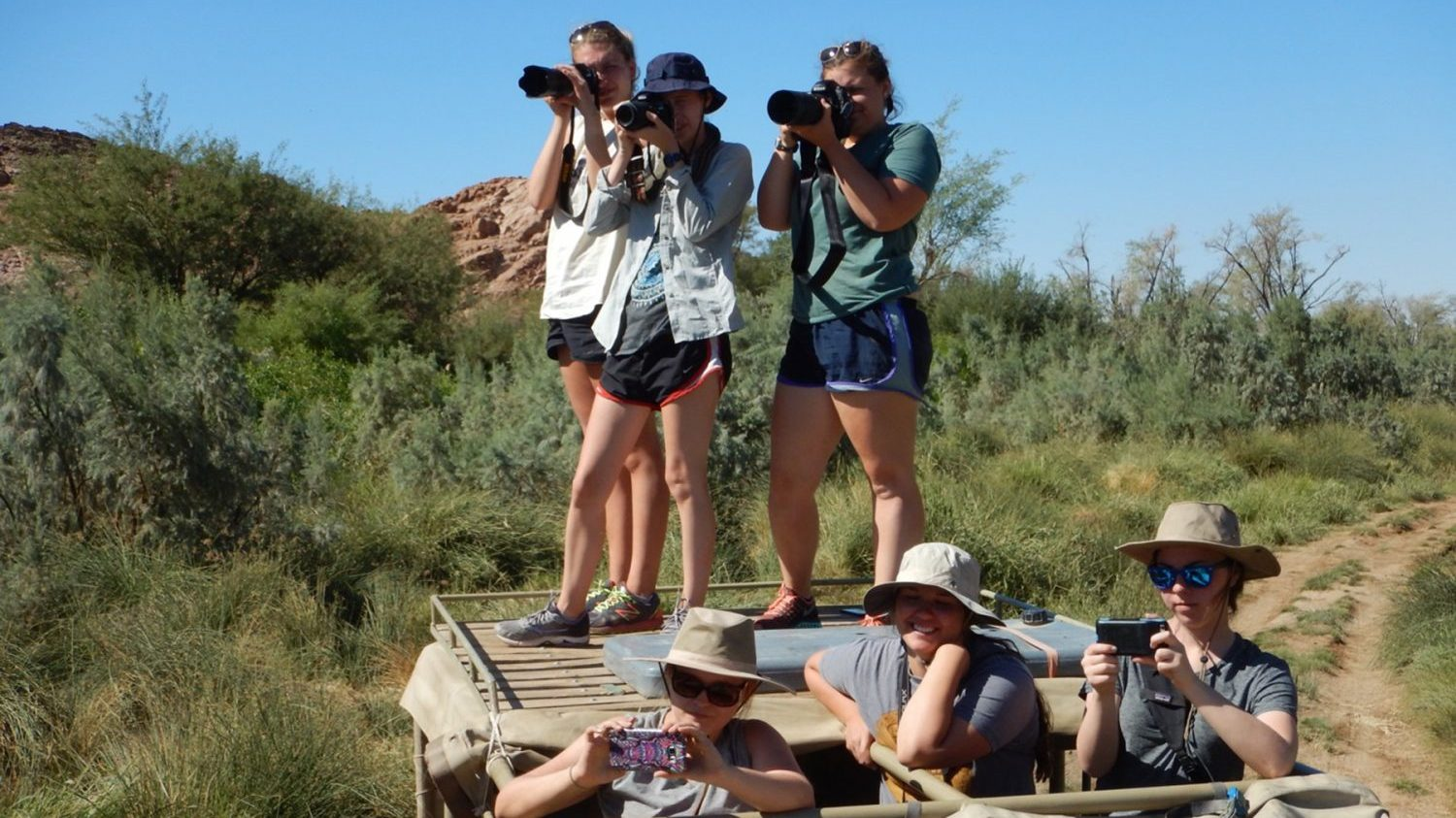 NC State students in Namibia