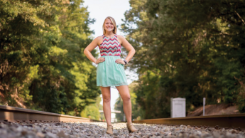 Fisheries, Wildlife and Conservation Biology major Lindsay Clontz