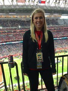 Amanda Dinkle at Super Bowl
