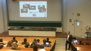 Dr. Richard Venditti presents at a seminar in France.