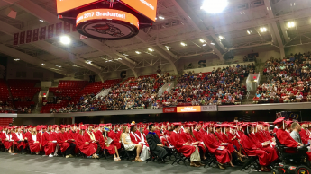 The 2017 College of Natural Resources commencement ceremony was held at Reynolds Coliseum.