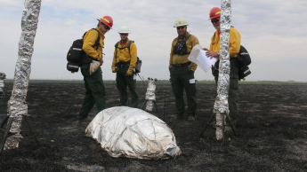 Dr. Roise field test fire shelters in South Dakota