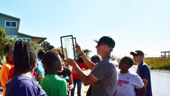 Neighborhood Ecology Corps activity at the Walnut Creek Wetlands Center