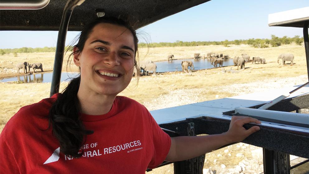 Rebecca Sears in Namibia