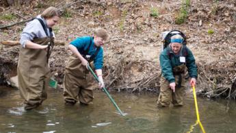 Environmental Career Day fish activity