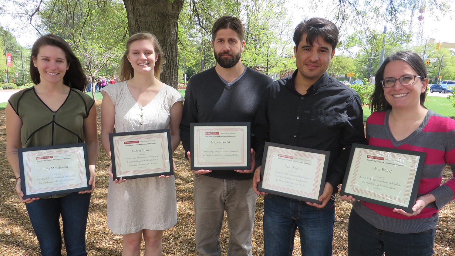 Forestry and Environmental Resources graduate student recognitions