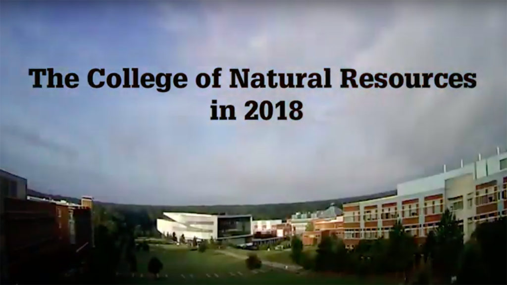 The College of Natural Resources in 2018