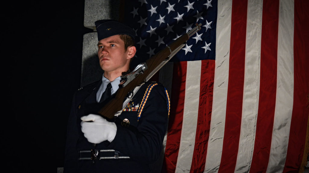 Chris Hixson dressed in his Air Force Officer uniform
