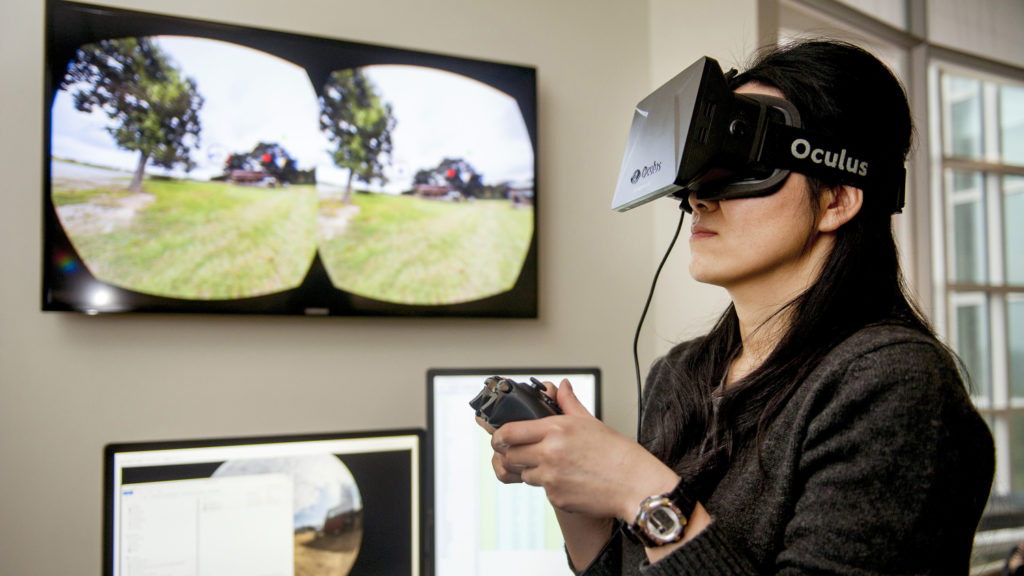 Female with Oculus headset - Emerging Opportunities and Jobs in the Bioeconomy