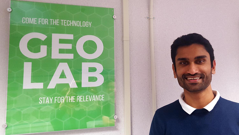 Student at the Geo Lab